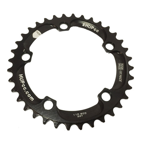 HUP 36T Narrow-Wide Chainring: Kids Road Race/Cyclocross/MTB Race Bikes