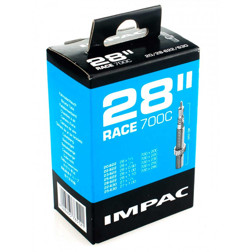 Impac Road Inner Tubes for 20c-28c 700c Road Tyres (Pair)