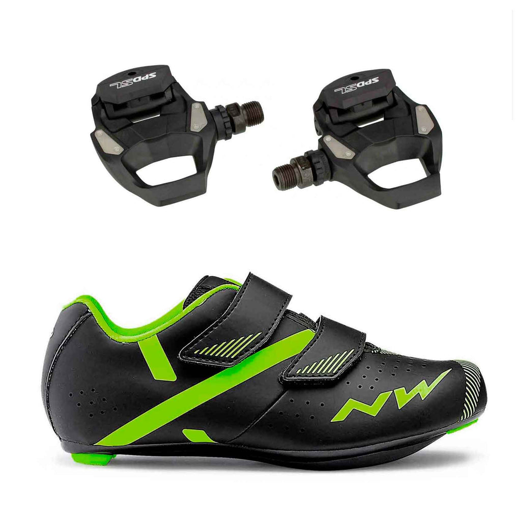 Northwave Kids Torpedo and Road Pedals bundle