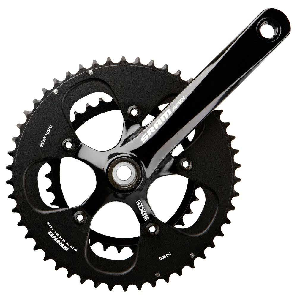 SRAM Apex Hollowtech 2-piece Modified Short Crankset: (135/140/145/150/155)