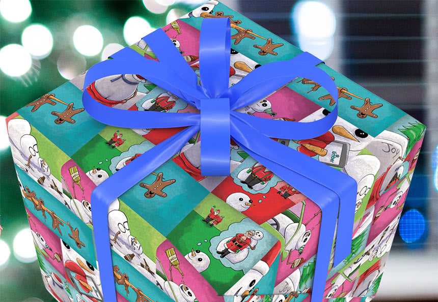 Trump putin wrapping paper nastywrap the inappropriate snowman wrapping paper close up on bad snowman negle Images