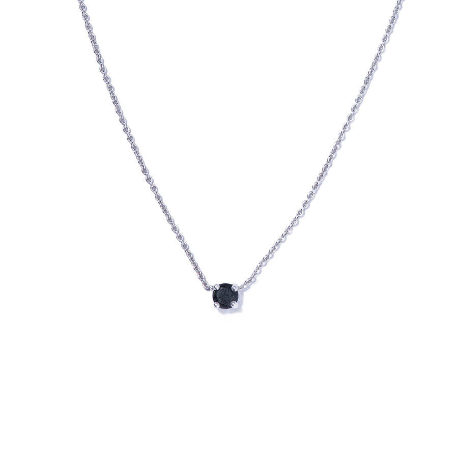 Gargantilla de plata  - BLACK STONE NECKLACE