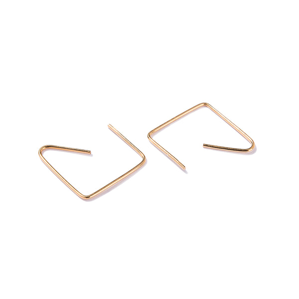 Pendientes dorados - QUADRATE EARRINGS