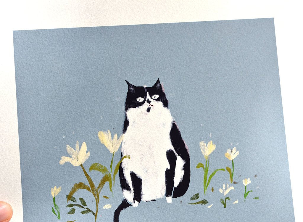 The Nature Lover Cat Print