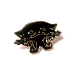 Double Trouble Pin, Black with Silver by WKNDRS on Katt.