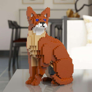 "Abyssinian Cat Sculpture, Sitting (28.3 x 20.6 cm / 11.1"" x 8.1"") by JEKCA on Katt."