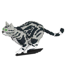 "American Shorthair Cat Sculpture, Running (21.7 x 46.3 cm / 8.5"" x 18.2"") by JEKCA on Katt."