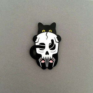 Bad Black Kitty Pin by Frolik on Katt.