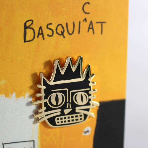 Basquiat Cat Pin - Pin by Niaski on Katt.