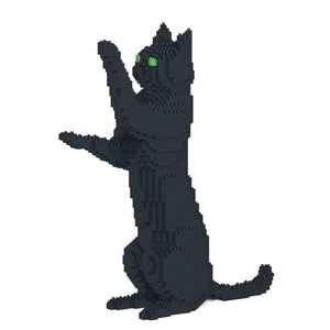 "Black Cat Sculpture, Sitting Upright (39.2 x 35.6 cm / 15.4"" x 14.0"") by JEKCA on Katt."