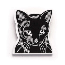 Black European Shorthair Cat Brooch by Fibularia on Katt.