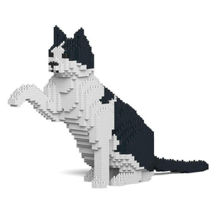 "Black & White Cat Sculpture, Paw (47.5 x 27.5 cm / 18.7"" x 10.8"") by JEKCA on Katt."