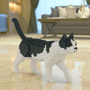 "Black & White Cat Sculpture, Walking (41.3 x 28.8 cm / 16.3"" x 11.3"") by JEKCA on Katt."