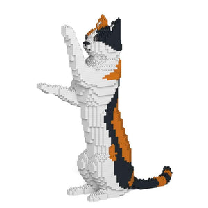 "Calico Cat Sculpture, Sitting Upright (39.2 x 35.6 cm / 15.4"" x 14.0"") by JEKCA on Katt."