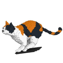 "Calico Cat Sculpture, Running (21.7 x 46.3 cm / 8.5"" x 18.2"") by JEKCA on Katt."