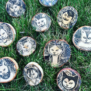 Cat Magnets by The 50/50 Company on Katt.