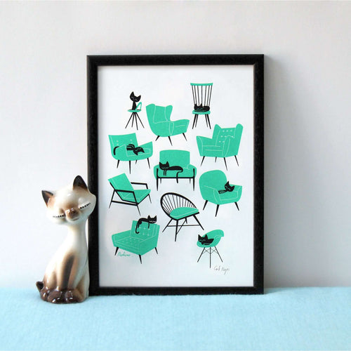 Cat Naps Print by Peskimo on Katt.
