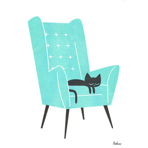 Cat Naps Riso Print by Peskimo on Katt.