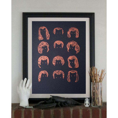 Cat People Print by The 50/50 Company on Katt.