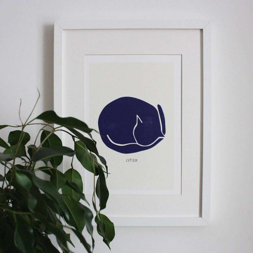 Catisse Sleeping Cat Print by Niaski on Katt.
