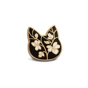 Floral Cat Pin - Pin by Shugarush on Katt.