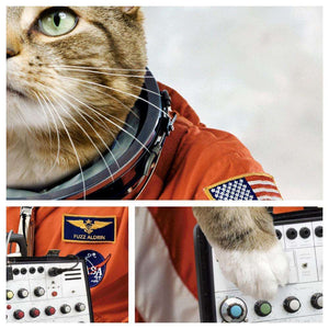 Cats On Synthesizers In Space Fuzz Aldrin Print - Print by Cats On Synthesizers In Space on Katt.