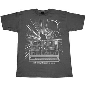 Cats On Synthesizers In Space T-Shirt Grey by Cats On Synthesizers In Space on Katt.