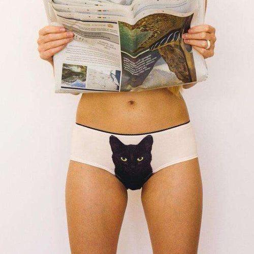 Experienced Fighter Black Cat Panties - Panties by Lickstarter on Katt.