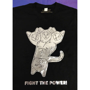 Fight The Power T-Shirt by HOMOCATS on Katt.