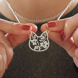 Floral Cat Lace Necklace by Shugarush on Katt.