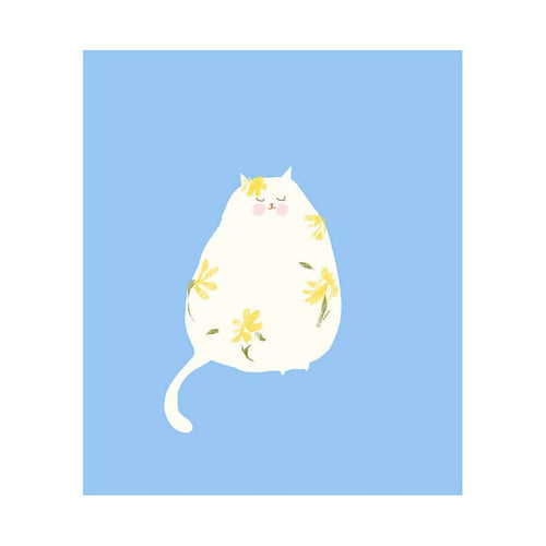 Flower Power Cat Print by The Dancing Cat on Katt.
