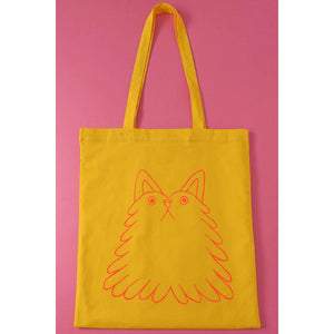 Fluff Buddy Tote Bag by YUK FUN on Katt.