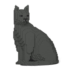 "Grey Cat Sculpture, Sitting (27.1 x 22.5 cm / 10.7"" x 8.9"") by JEKCA on Katt."