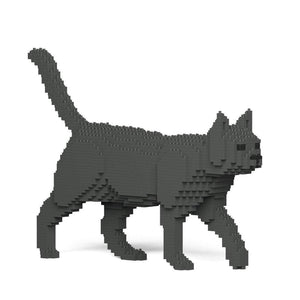 "Grey Cat Sculpture, Walking (41.3 x 28.8 cm / 16.3"" x 11.3"") by JEKCA on Katt."