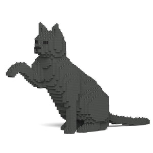 "Grey Cat Sculpture, Paw (47.5 x 27.5 cm / 18.7"" x 10.8"") by JEKCA on Katt."