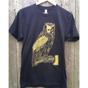 Hatchet Cat Vulture T-Shirt by The 50/50 Company on Katt.