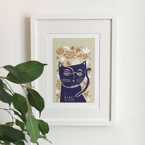Henri Catisse Cat Print by Niaski on Katt.