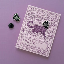 Cat Lady Pin, Black and Silver by Frolik on Katt.