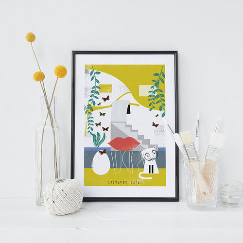 Salvador Catli House Print by Niaski on Katt.