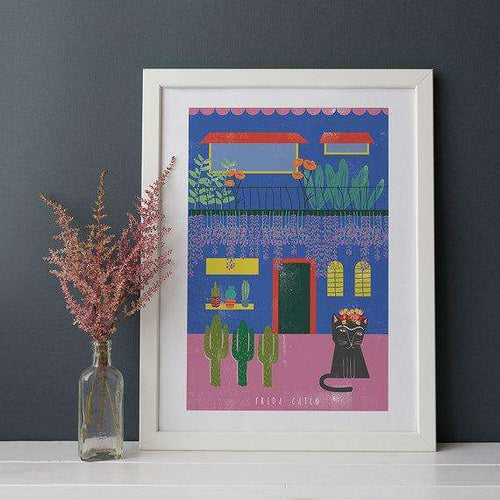 Frida Catlo House Print by Niaski on Katt.