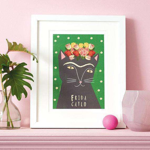 Frida Catlo Print by Niaski on Katt.