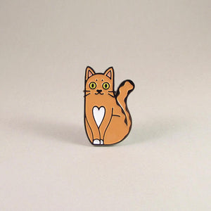 Love Cat Pin, Ginger - Pin by Ghost Goods on Katt.