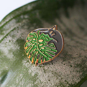Monstera Cat Pin - Pin by Niaski on Katt.