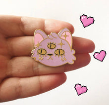 Three-Eyed Cat Pin, Lilac by Oh You Fox on Katt.