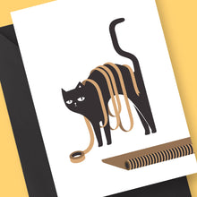 Naughty Cat Card by Frolik on Katt.