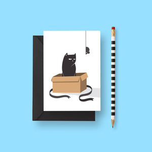 Cat In A Box Card by Frolik on Katt.