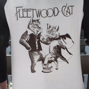 Fleetwood Cat Baseball T-Shirt by Jackalope Clothing on Katt.