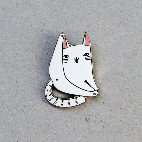 Cat Forever Pin, White - Pin by Surfing Sloth on Katt.