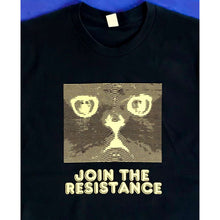 Join The Resistance Black T-Shirt by HOMOCATS on Katt.