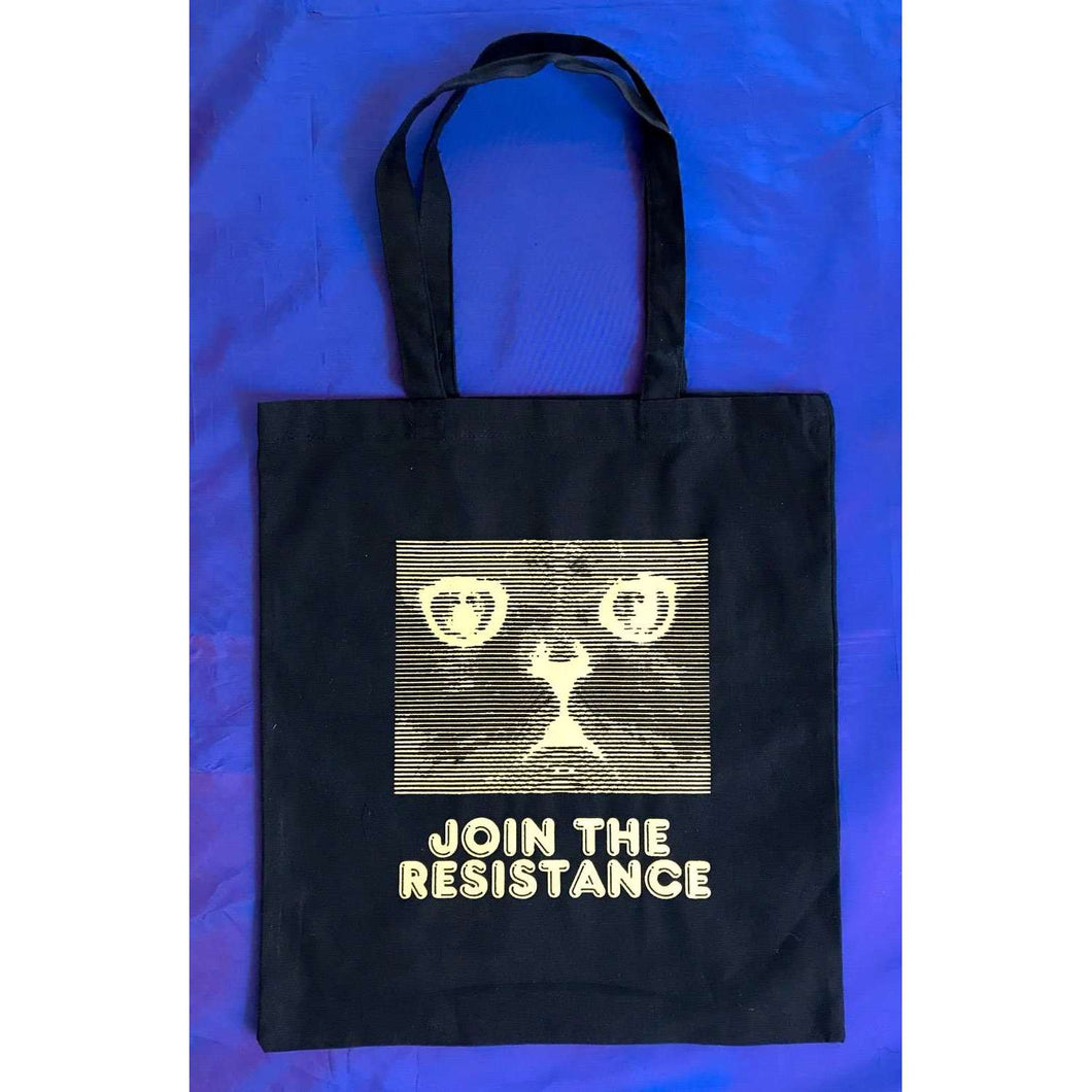 Join The Resistance Black Tote Bag by HOMOCATS on Katt.